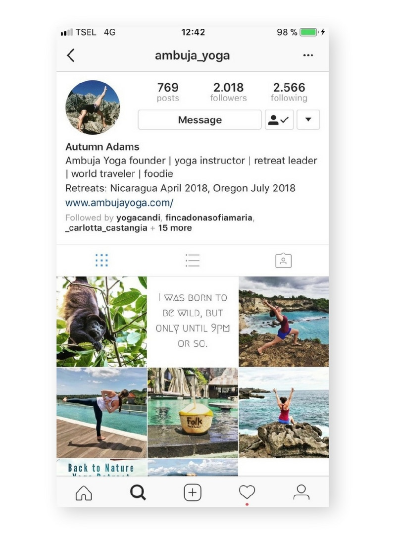 How to create a Yoga Instagram profile that pops