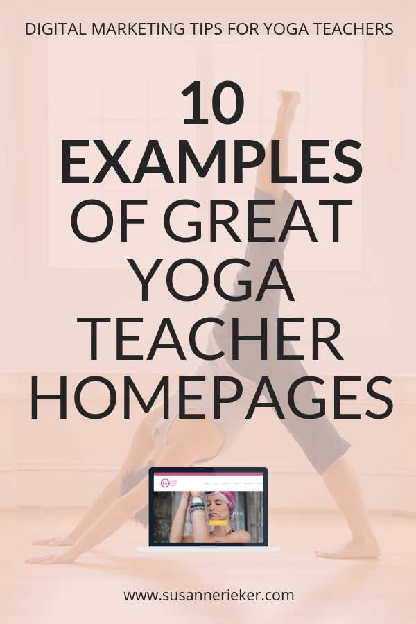 10 Examples of Great Yoga Teacher Homepages