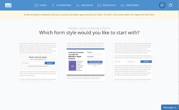 How to get Started with ConvertKit: set up a form
