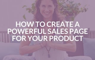 How to create a powerful sales page for your product