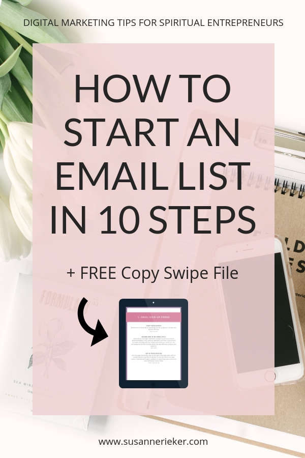 10 steps guide how to start an email list