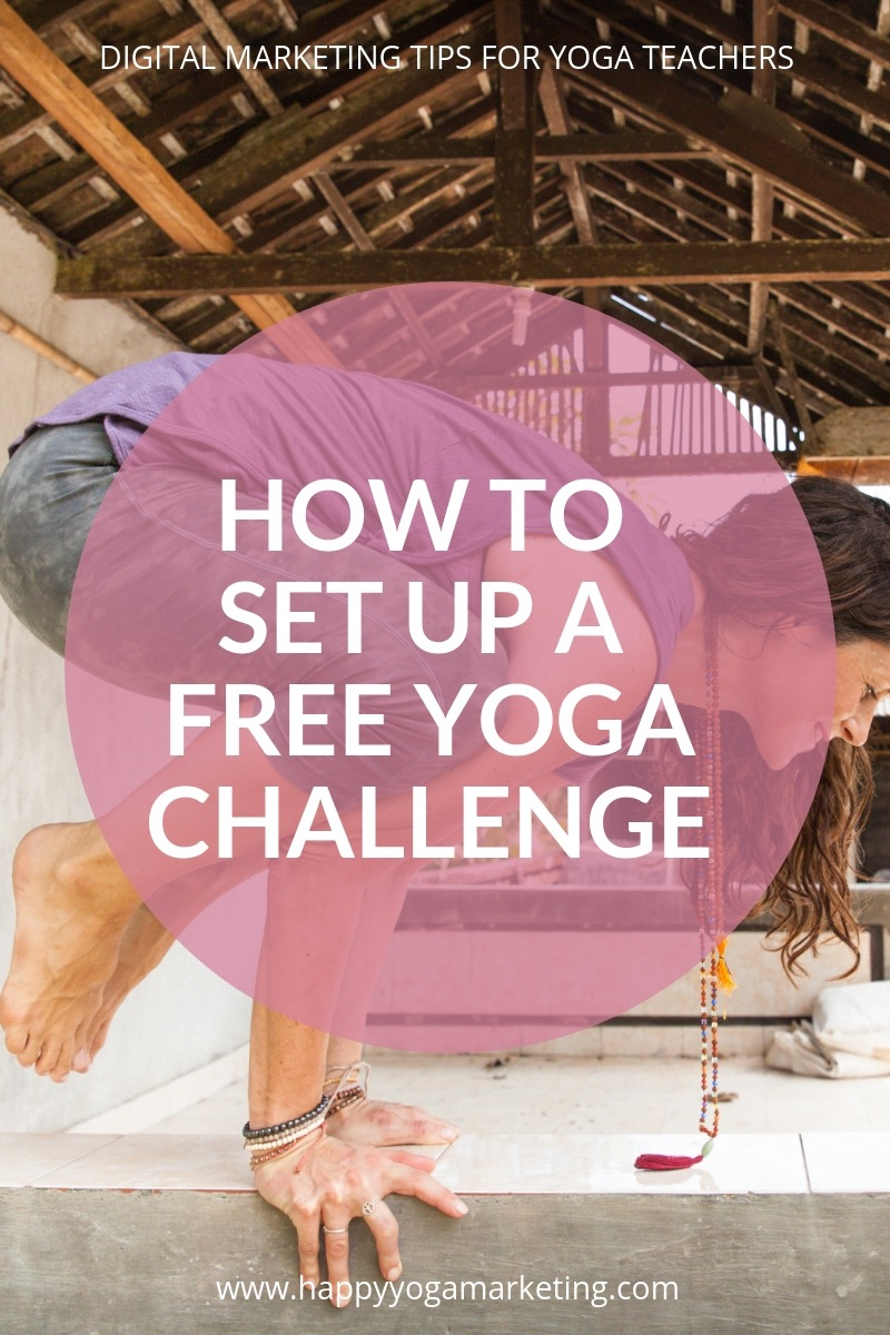 How to set up a free yoga challenge