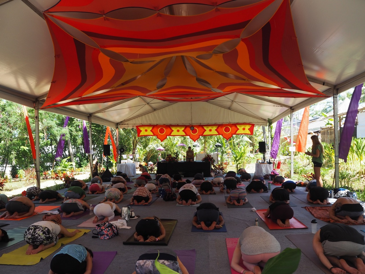 Yoga at Volunteering at Bali Spirit Festival
