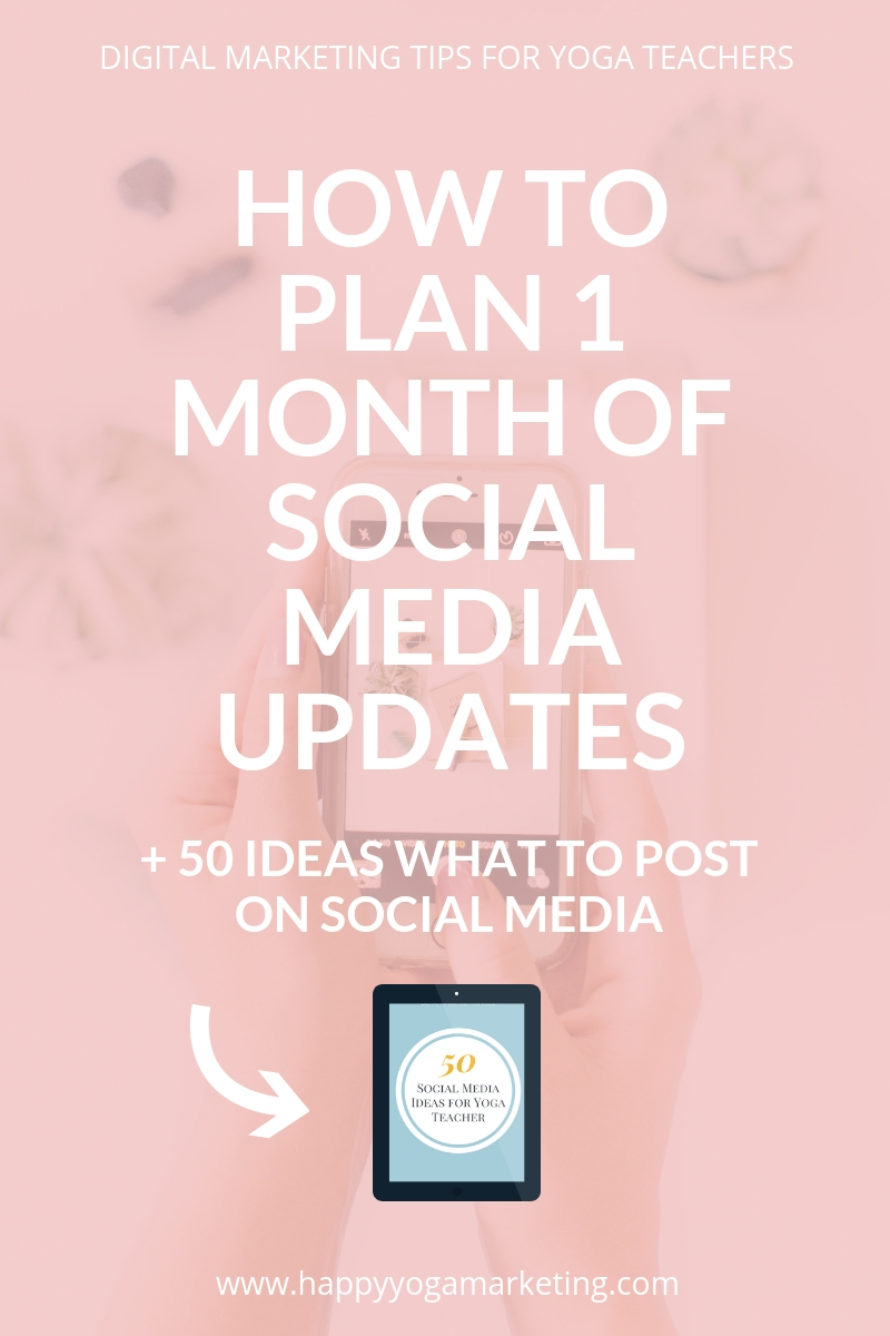 How to plan 1 month of social media updates