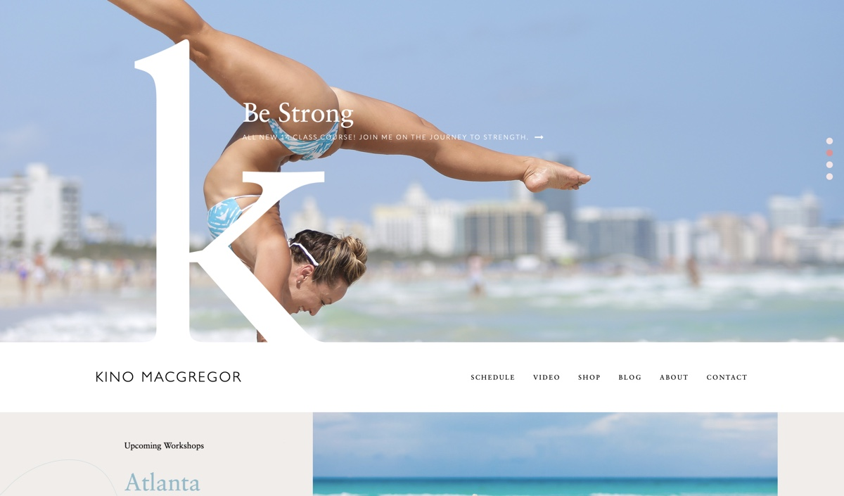 Yoga Teacher Website from Kino Yoga