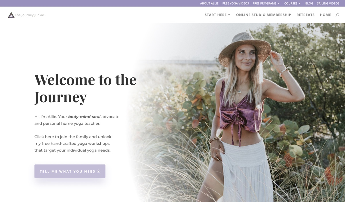 The Journey Junkie Website