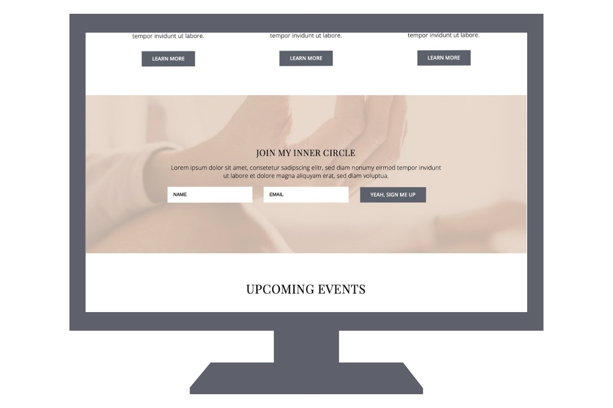 Homepage sign-up form