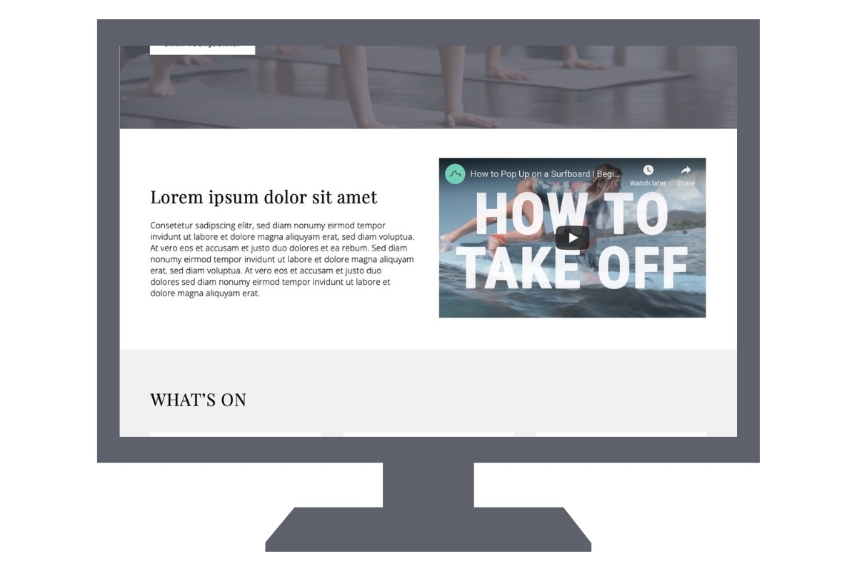 Homepage that converts welcome message