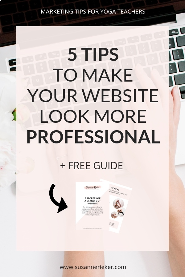 5 Tips to make your website look more professional