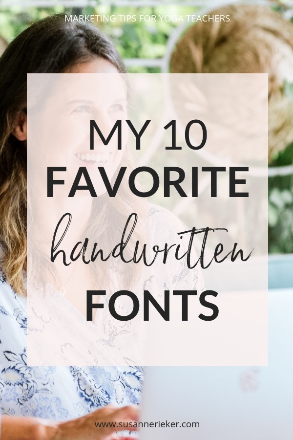 My 10 Favorite Handwritten Fonts
