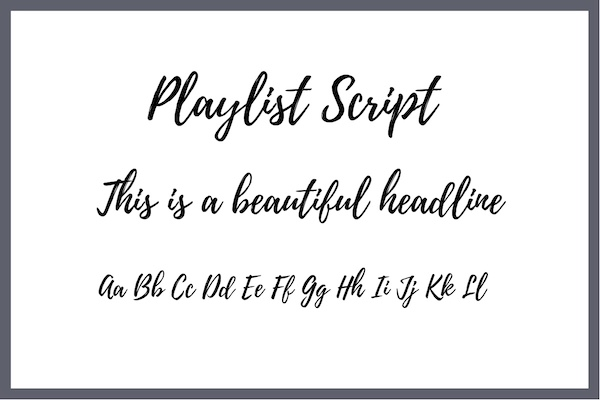 Handwritten Font Playlist