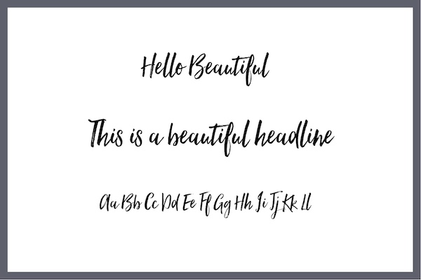 Handwritten Font Hello Beautiful
