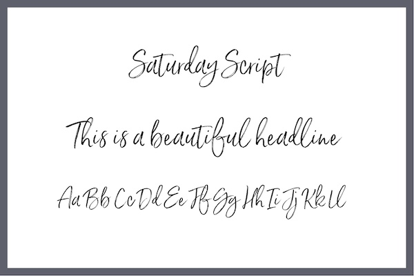 Handwritten Font Saturday