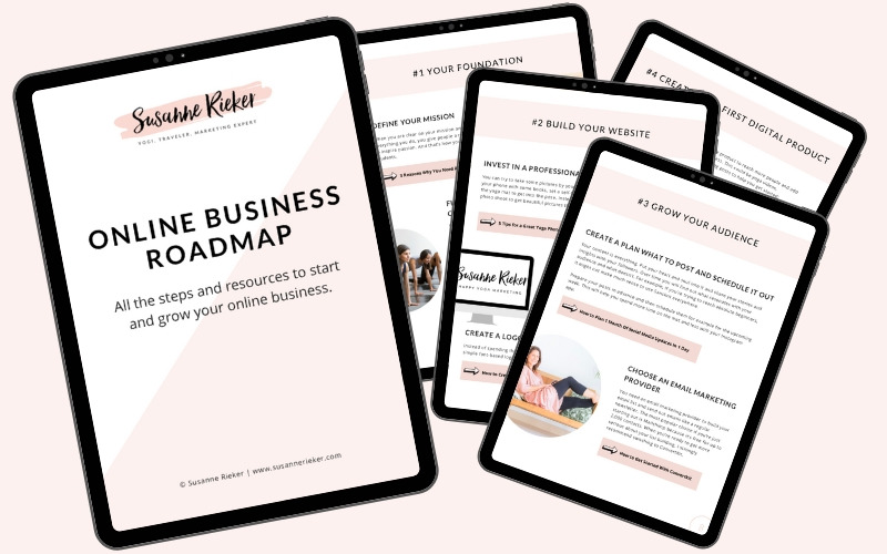 Online Business Roadmap - Susanne Rieker | Happy Yoga Marketing