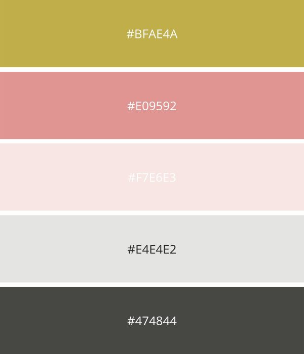 Summer Color Scheme for Wellness or Yoga Website