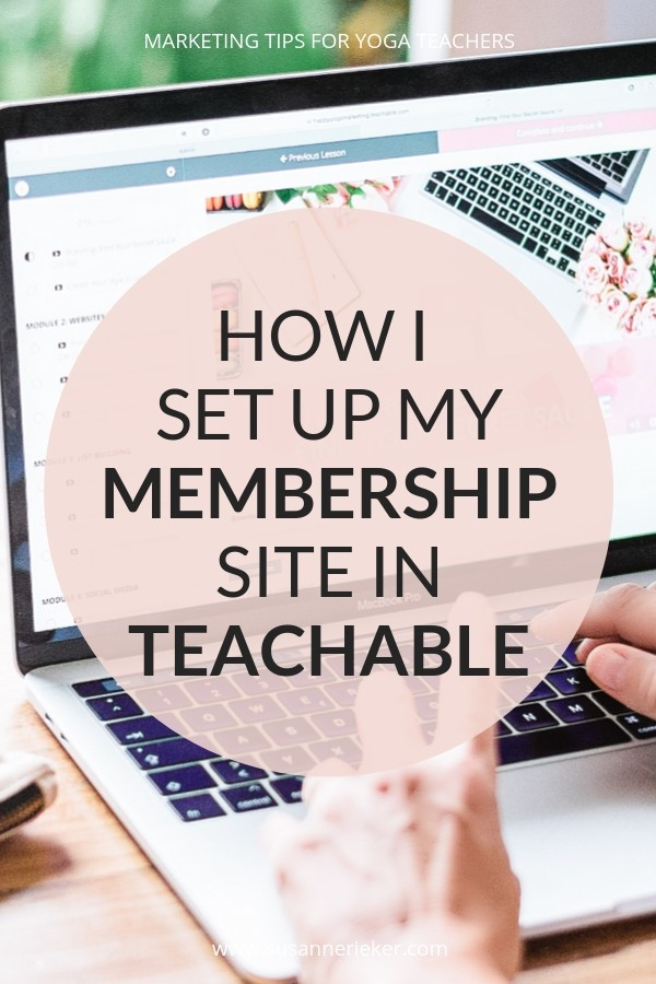 How I Set Up My Membership Site in Teachable