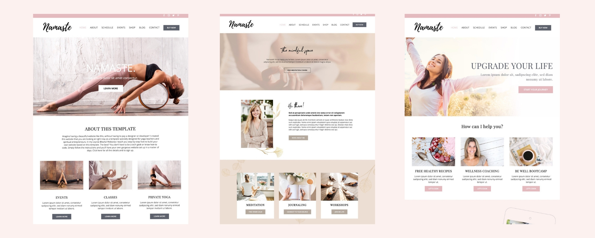 Blissful Websites Homepages