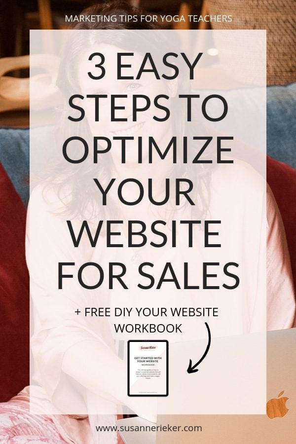 3 Easy Steps to Optimize Your Website for Sales