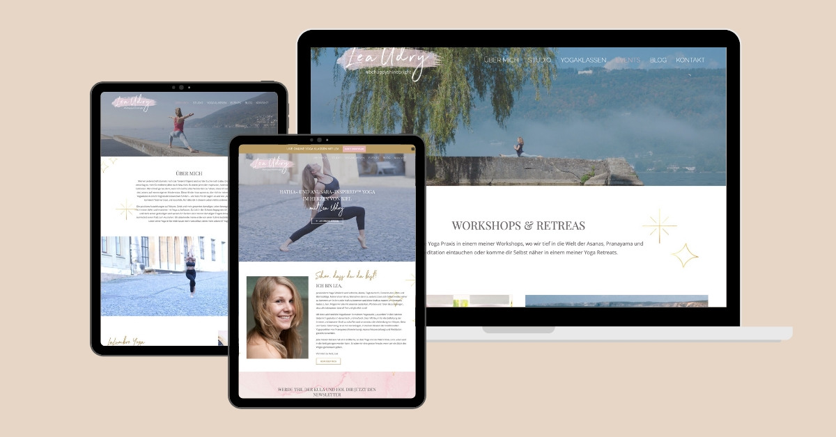 Website Design Lea udry Yoga