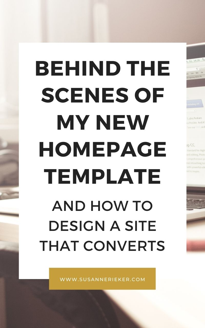 Behind the Scenes of my New Homepage Template and How to Design a Site That Converts